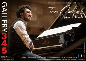 Poster Teo Milea - Gallery 345 - December 4, 2015