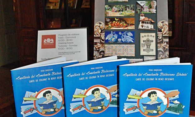 """""""Copilăria lui Constantin Bălăceanu Stolnici"""", carte de colorat în benzi desenate"""