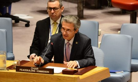 Reprezentantul Permanent al României la ONU a prezentat în Consiliul de Securitate prioritățile Comisiei pentru Consolidarea Păcii în anul 2018