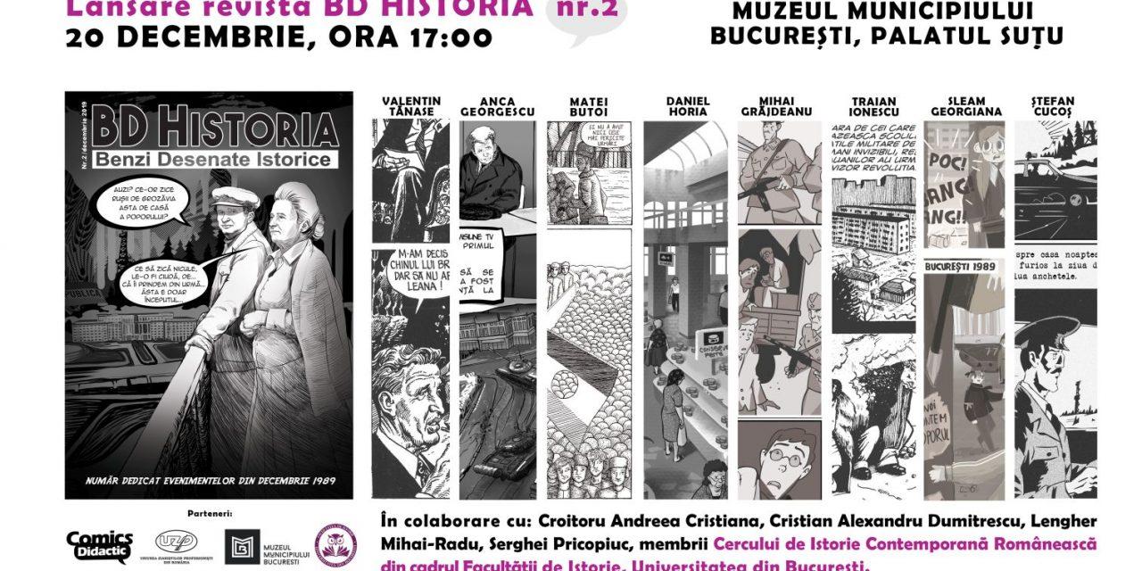 """Revista """"BD Historia, benzi desenate istorice"""" lansează un număr dedicat evenimentelor din Decembrie 1989"""