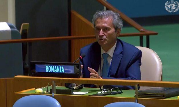 """Reprezentantul Permanent al României la ONU a pledat pentru protejarea resurselor de apă la reuniunea ONU la nivel înalt pe tema """"Implementarea obiectivelor privind apa ale Agendei 2030"""""""
