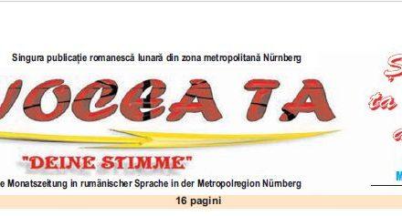 """Lansarea publicaţiei """"Vocea ta"""" în zona metropolitană Nürnberg"""